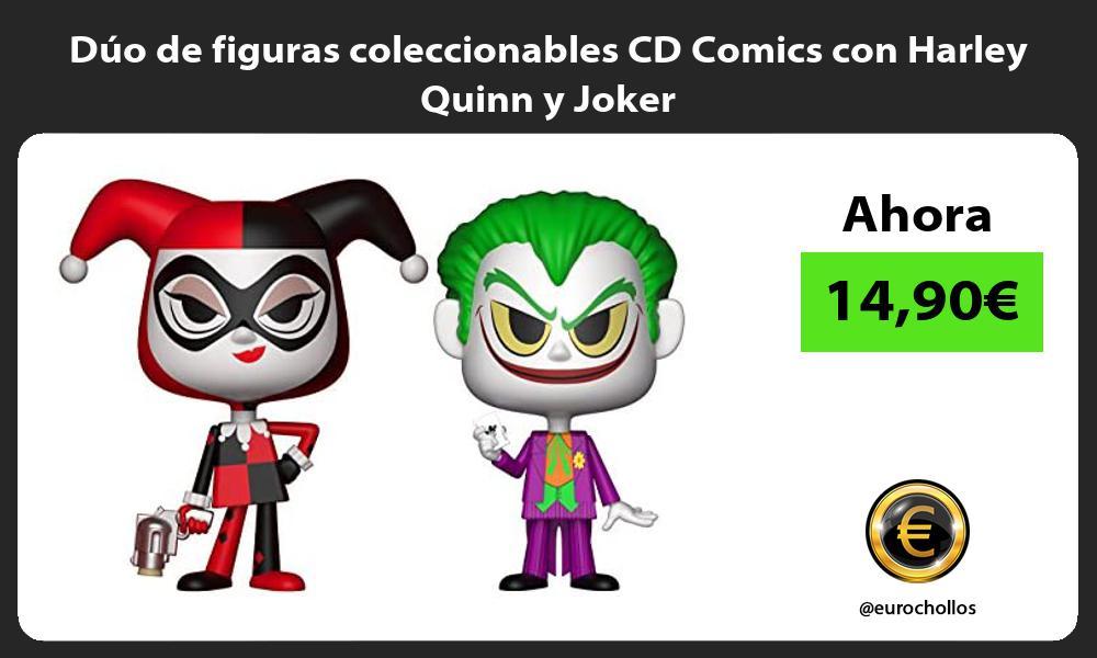 Dúo de figuras coleccionables CD Comics con Harley Quinn y Joker