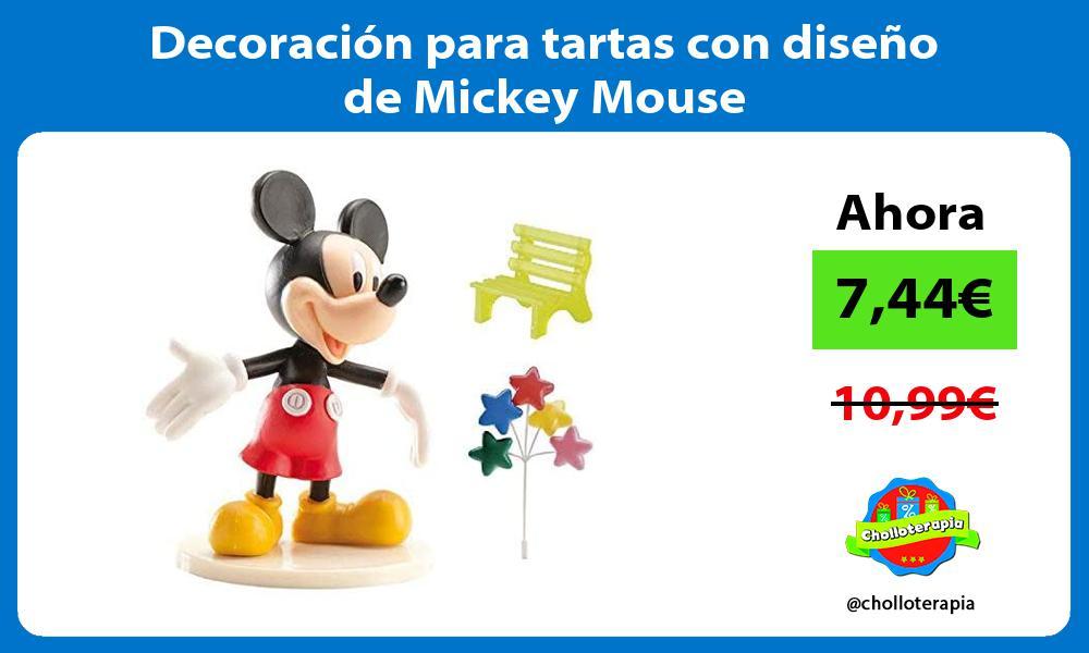 Decoración para tartas con diseño de Mickey Mouse