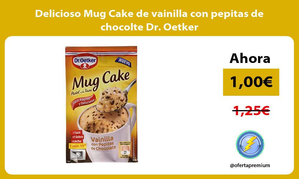 Delicioso Mug Cake de vainilla con pepitas de chocolte Dr Oetker