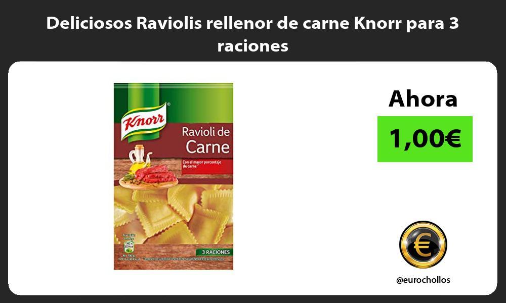 Deliciosos Raviolis rellenor de carne Knorr para 3 raciones