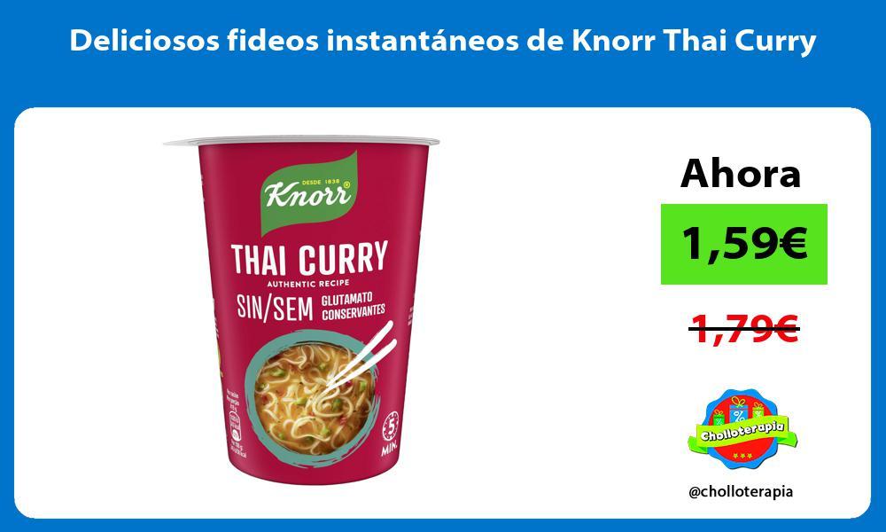 Deliciosos fideos instantáneos de Knorr Thai Curry