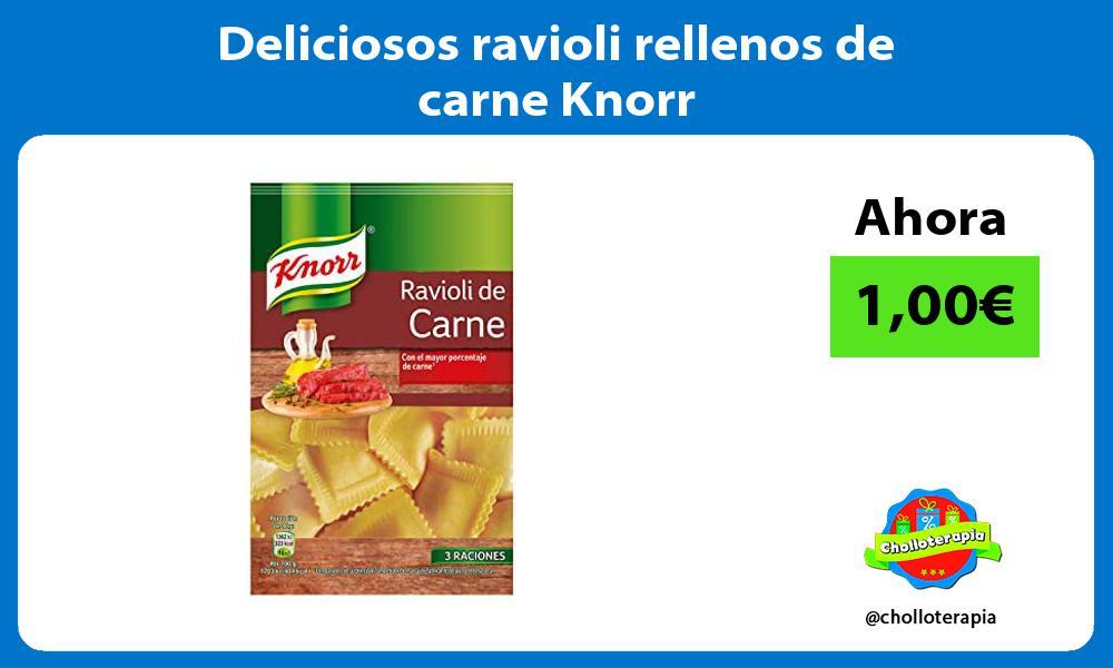 Deliciosos ravioli rellenos de carne Knorr