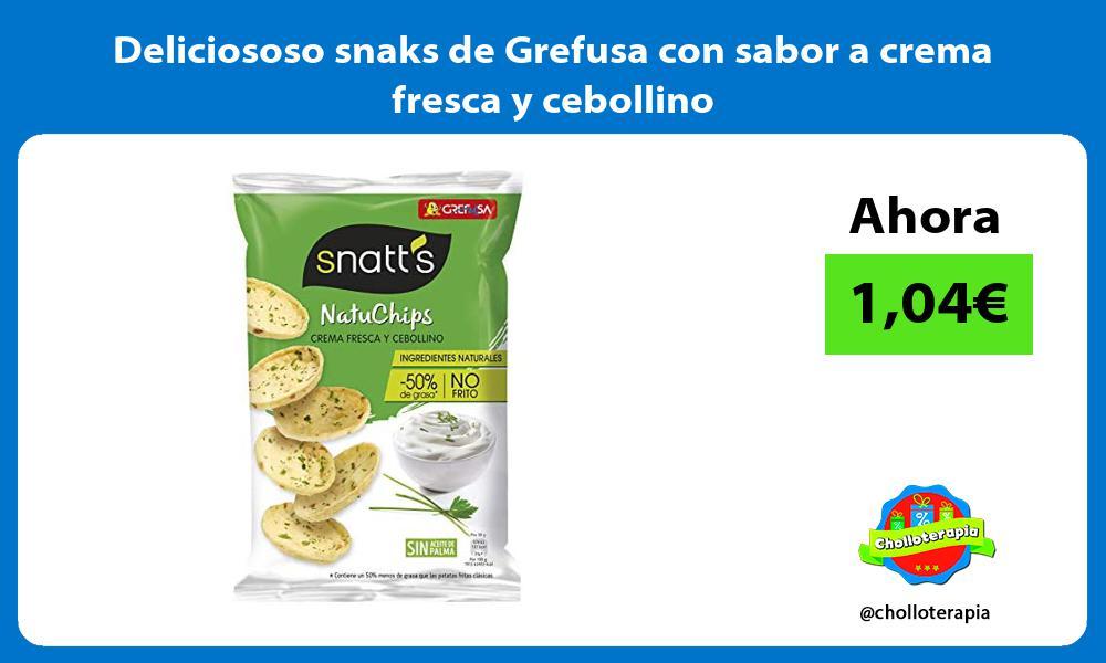 Deliciososo snaks de Grefusa con sabor a crema fresca y cebollino