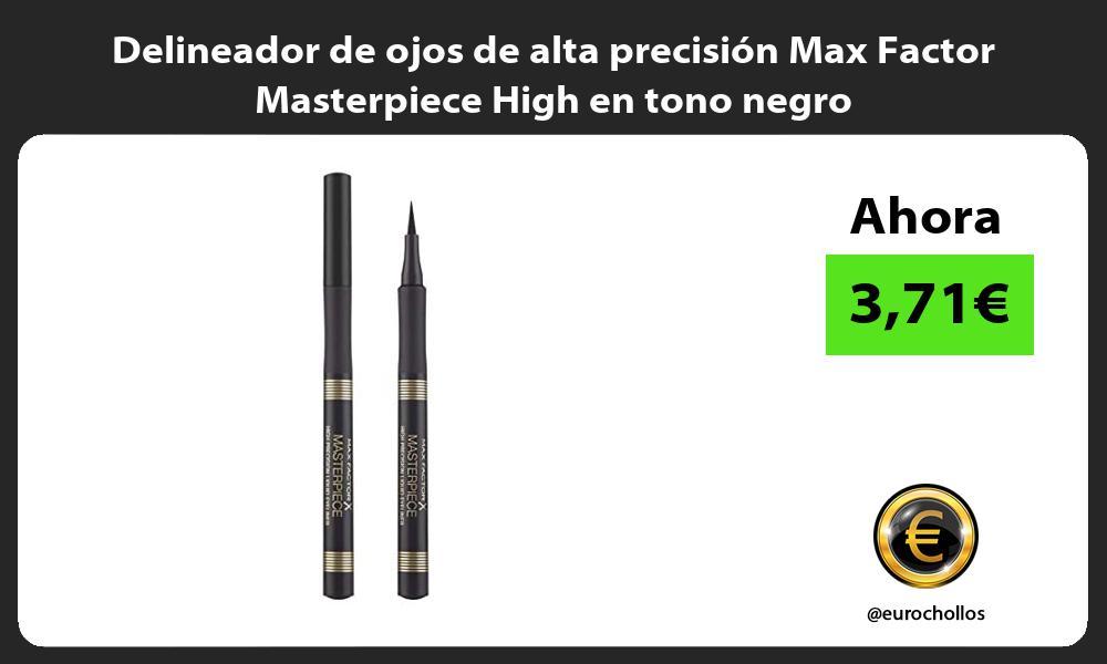 Delineador de ojos de alta precisión Max Factor Masterpiece High en tono negro