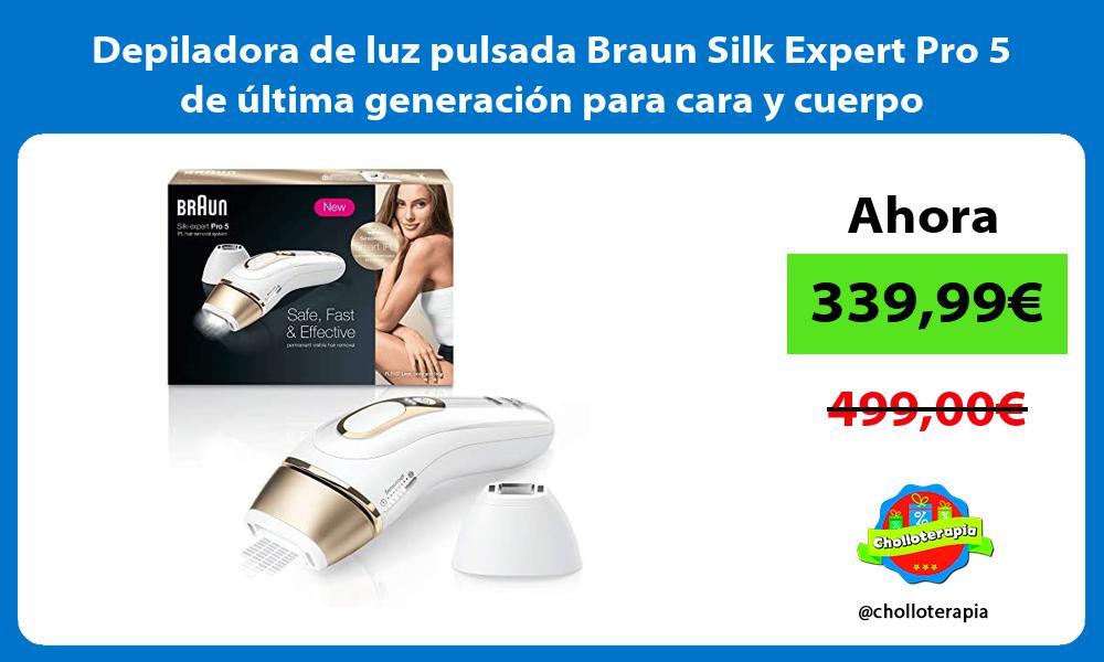 Depiladora de luz pulsada Braun Silk Expert Pro 5 de última generación para cara y cuerpo
