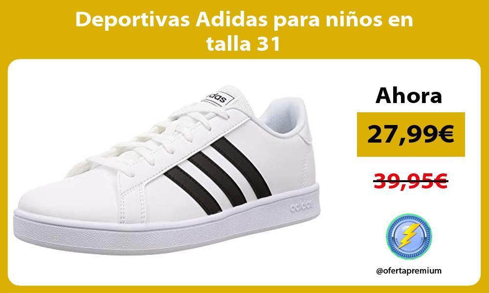 Deportivas Adidas para niños en talla 31