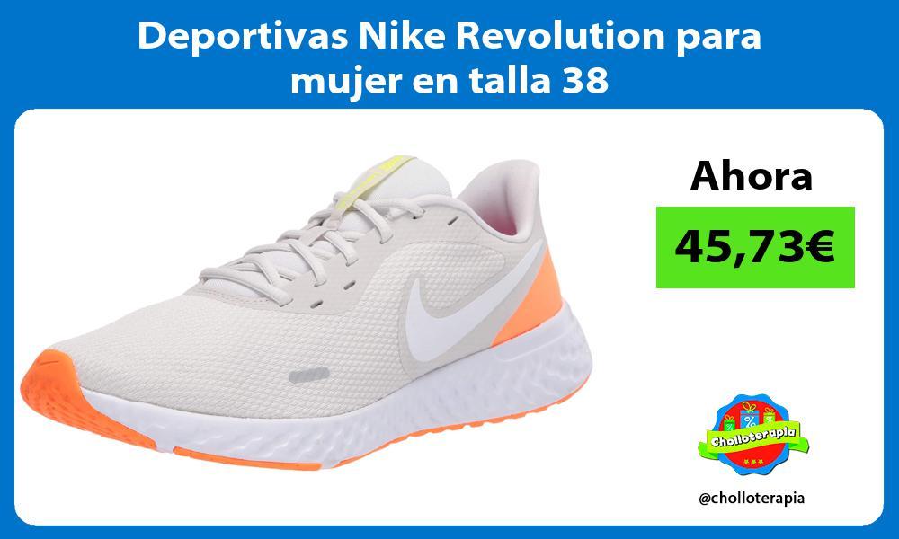 Deportivas Nike Revolution para mujer en talla 38