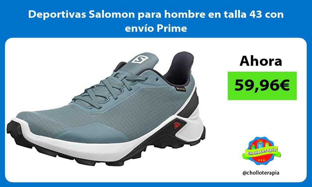 Deportivas Salomon para hombre en talla 43 con envío Prime