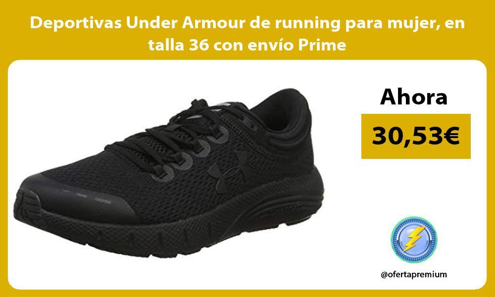 Deportivas Under Armour de running para mujer en talla 36 con envío Prime