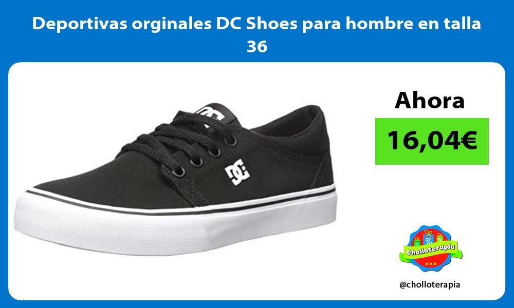Deportivas orginales DC Shoes para hombre en talla 36