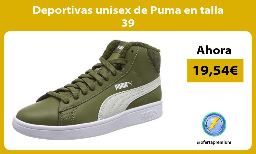 Deportivas unisex de Puma en talla 39