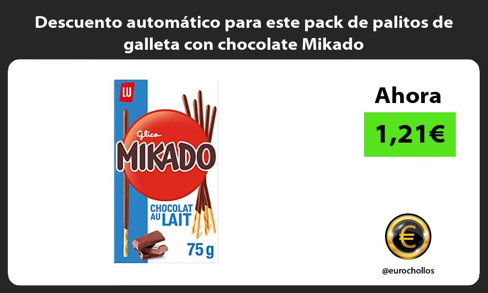 Descuento automático para este pack de palitos de galleta con chocolate Mikado