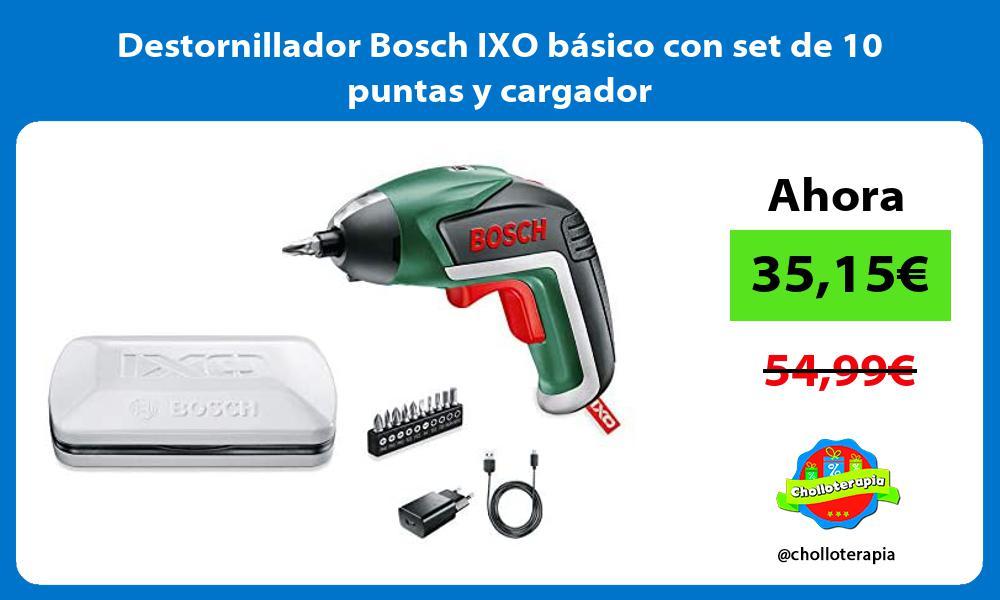 Destornillador Bosch IXO básico con set de 10 puntas y cargador