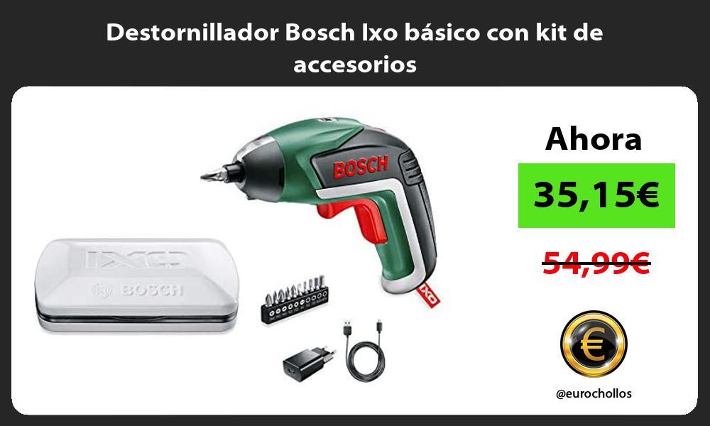 Destornillador Bosch Ixo básico con kit de accesorios