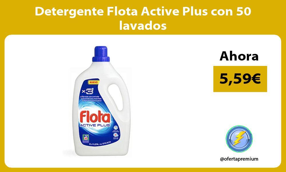 Detergente Flota Active Plus con 50 lavados