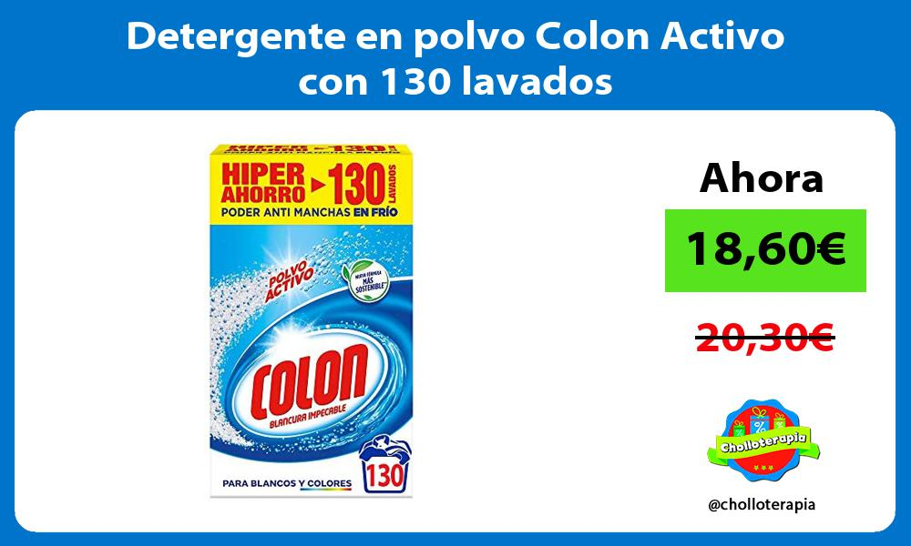 Detergente en polvo Colon Activo con 130 lavados