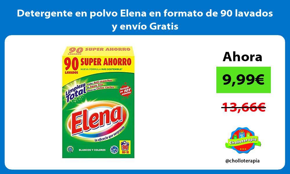 Detergente en polvo Elena en formato de 90 lavados y envío Gratis