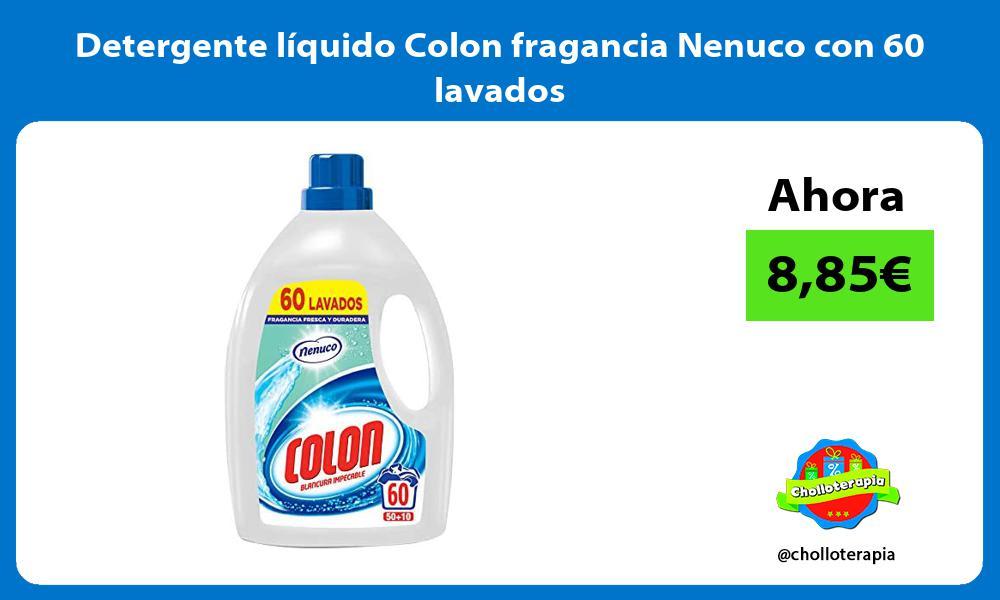 Detergente líquido Colon fragancia Nenuco con 60 lavados
