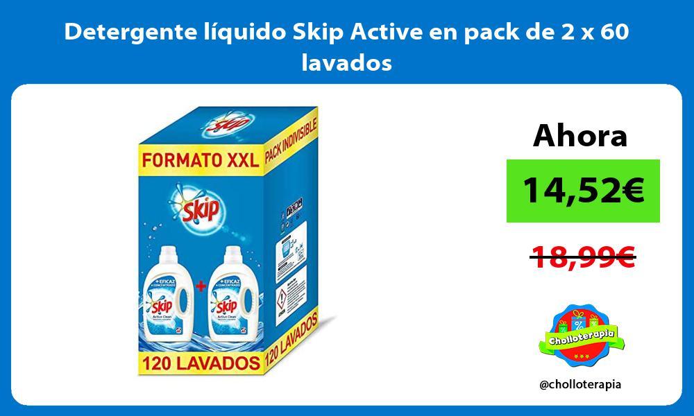 Detergente líquido Skip Active en pack de 2 x 60 lavados