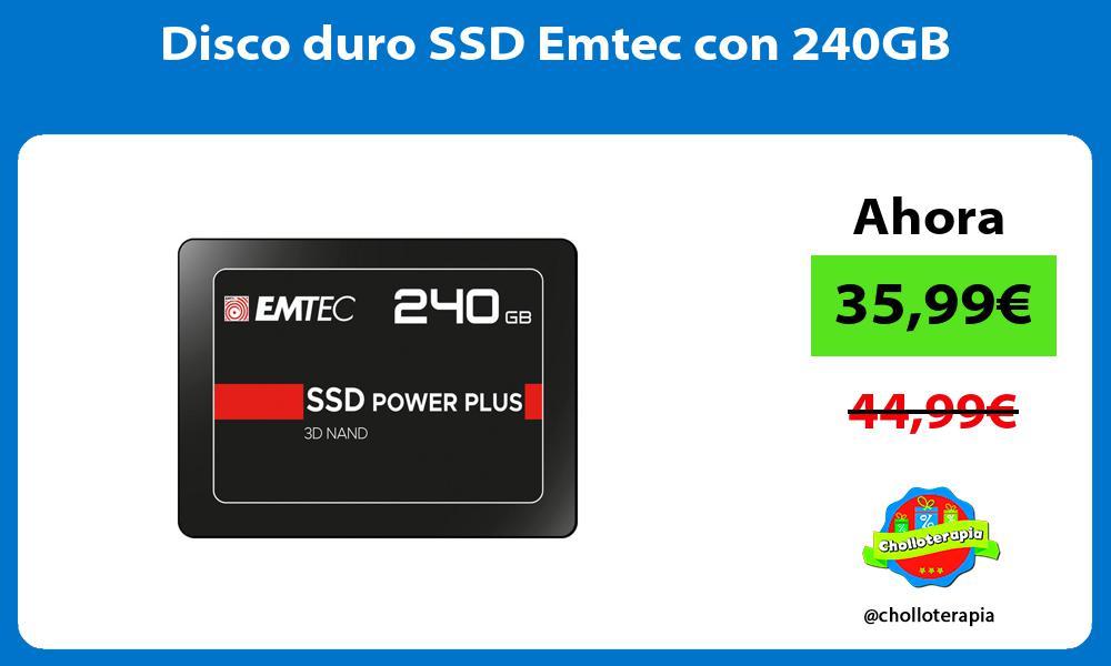 Disco duro SSD Emtec con 240GB
