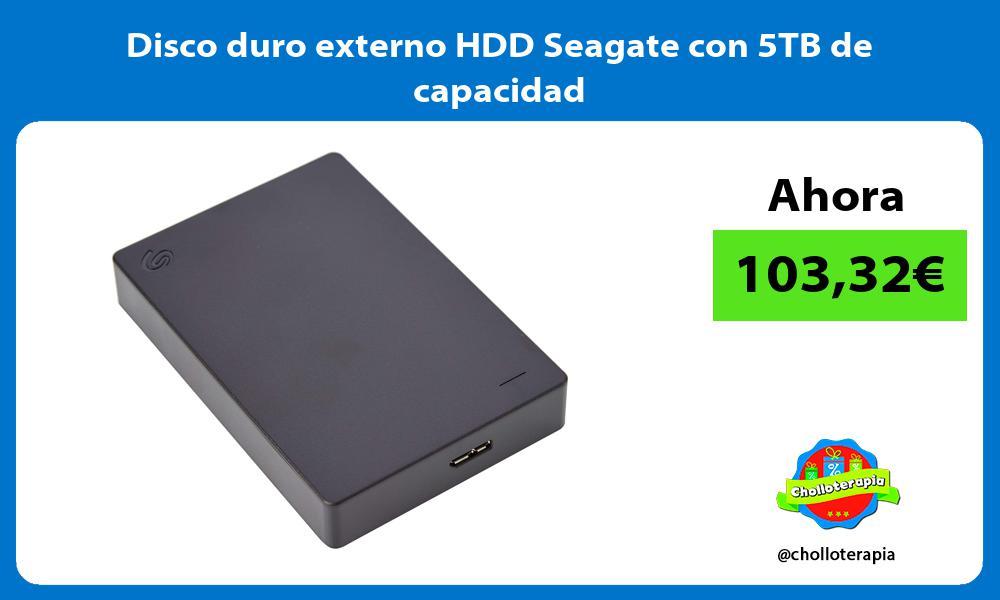 Disco duro externo HDD Seagate con 5TB de capacidad