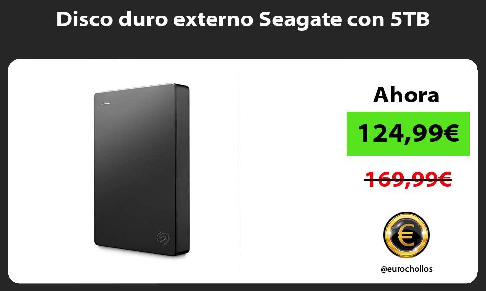 Disco duro externo Seagate con 5TB