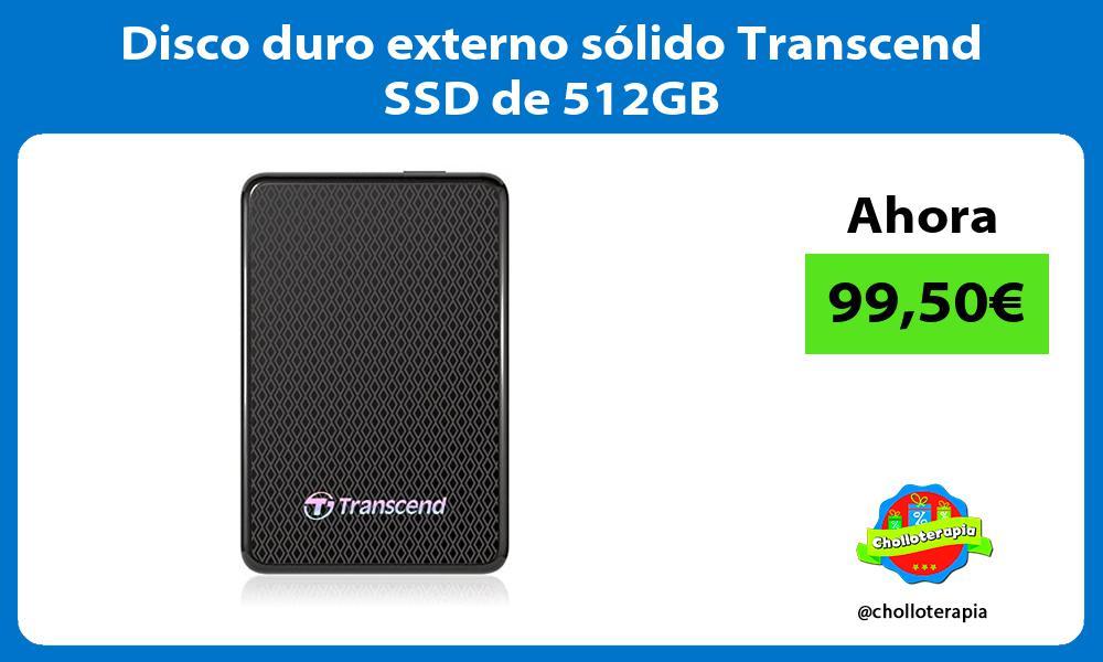 Disco duro externo sólido Transcend SSD de 512GB