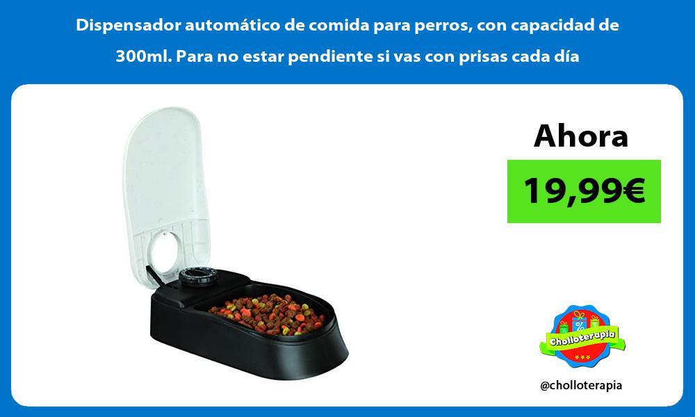 Dispensador automático de comida para perros con capacidad de 300ml Para no estar pendiente si vas con prisas cada día