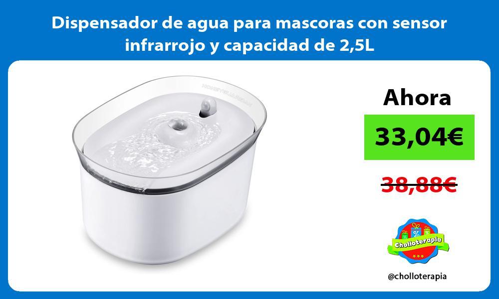 Dispensador de agua para mascoras con sensor infrarrojo y capacidad de 25L