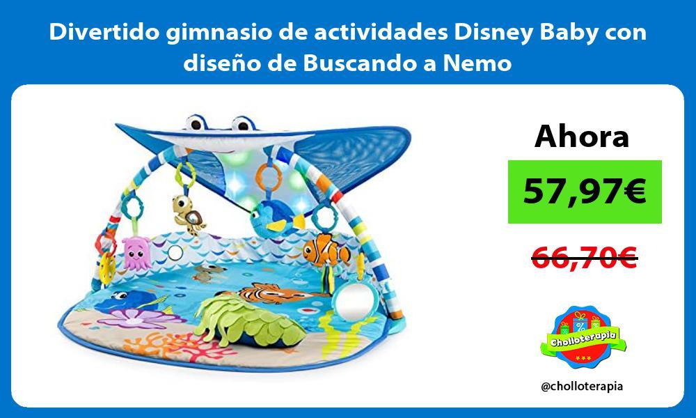 Divertido gimnasio de actividades Disney Baby con diseño de Buscando a Nemo