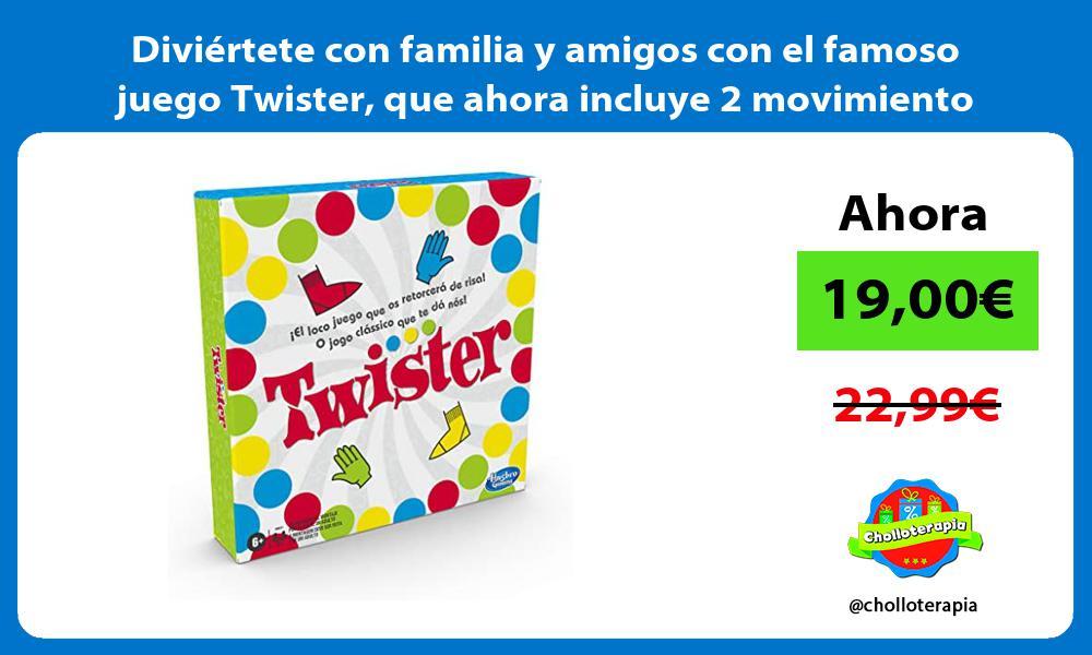 Diviértete con familia y amigos con el famoso juego Twister que ahora incluye 2 movimiento nuevos