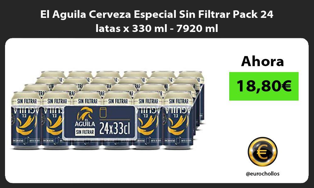 El Aguila Cerveza Especial Sin Filtrar Pack 24 latas x 330 ml 7920 ml