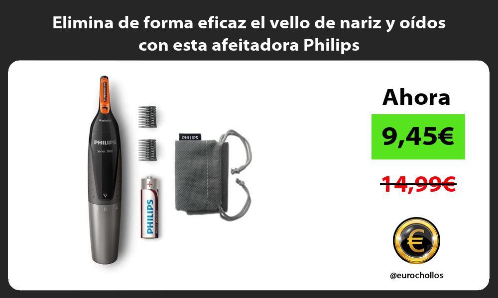 Elimina de forma eficaz el vello de nariz y oídos con esta afeitadora Philips