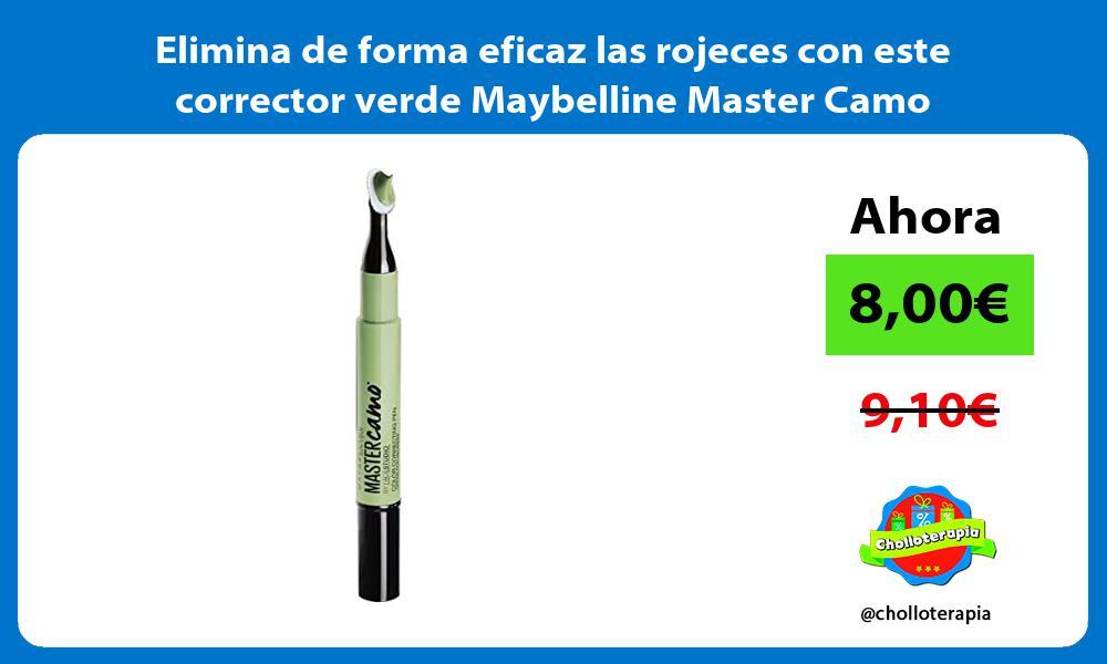 Elimina de forma eficaz las rojeces con este corrector verde Maybelline Master Camo