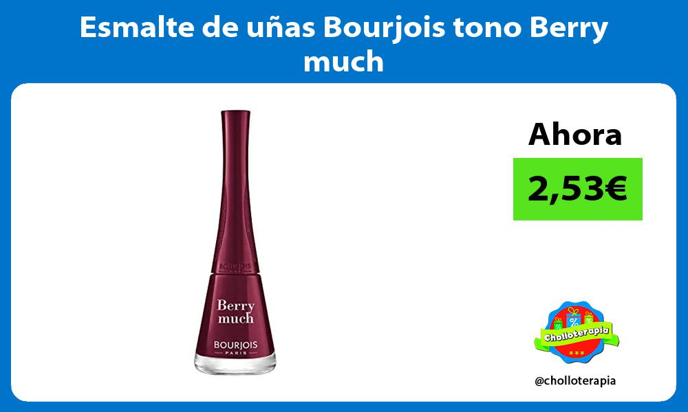 Esmalte de uñas Bourjois tono Berry much