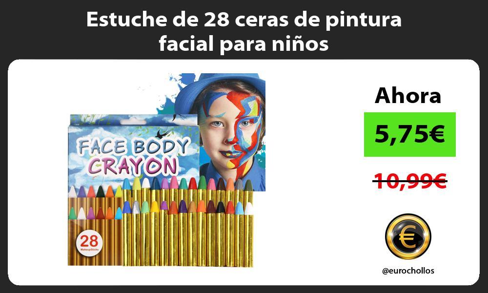 Estuche de 28 ceras de pintura facial para niños