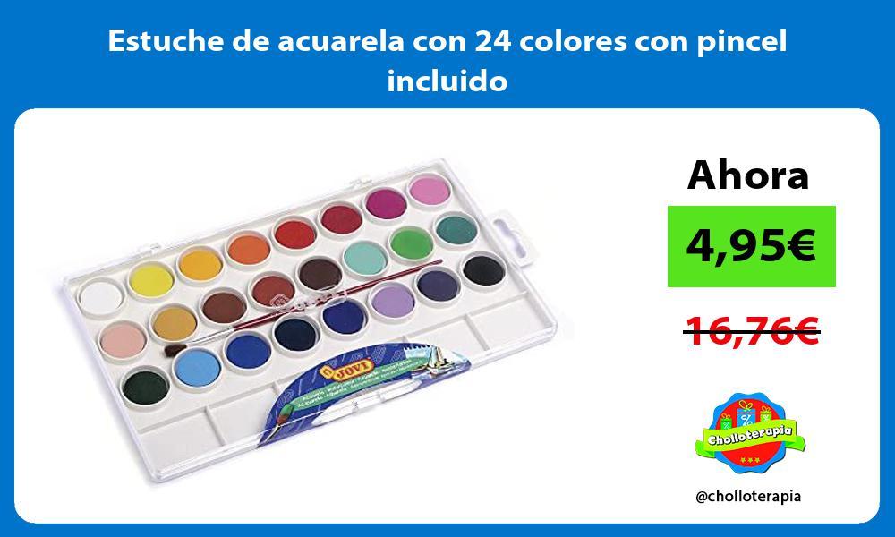 Estuche de acuarela con 24 colores con pincel incluido