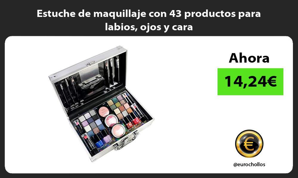 Estuche de maquillaje con 43 productos para labios ojos y cara