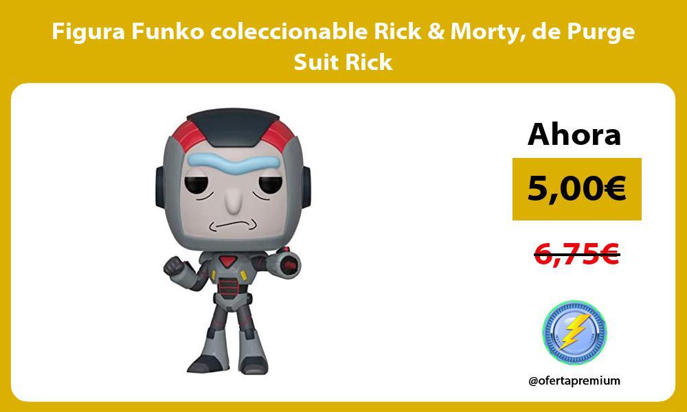 Figura Funko coleccionable Rick Morty de Purge Suit Rick