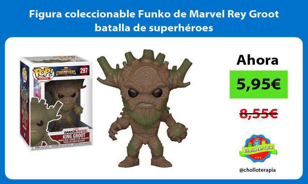 Figura coleccionable Funko de Marvel Rey Groot batalla de superhéroes