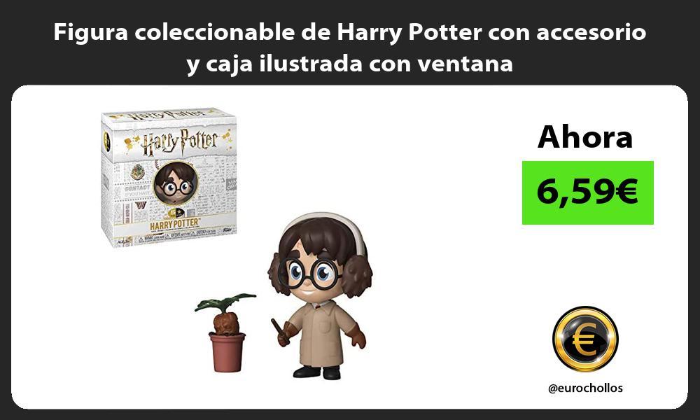 Figura coleccionable de Harry Potter con accesorio y caja ilustrada con ventana
