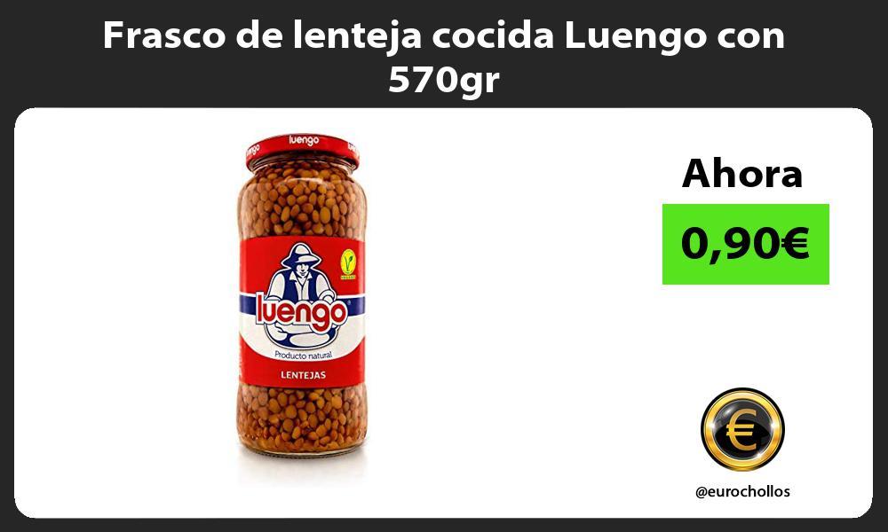Frasco de lenteja cocida Luengo con 570gr