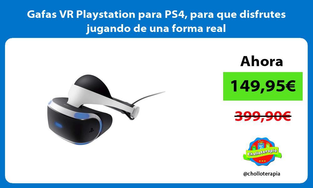 Gafas VR Playstation para PS4 para que disfrutes jugando de una forma real