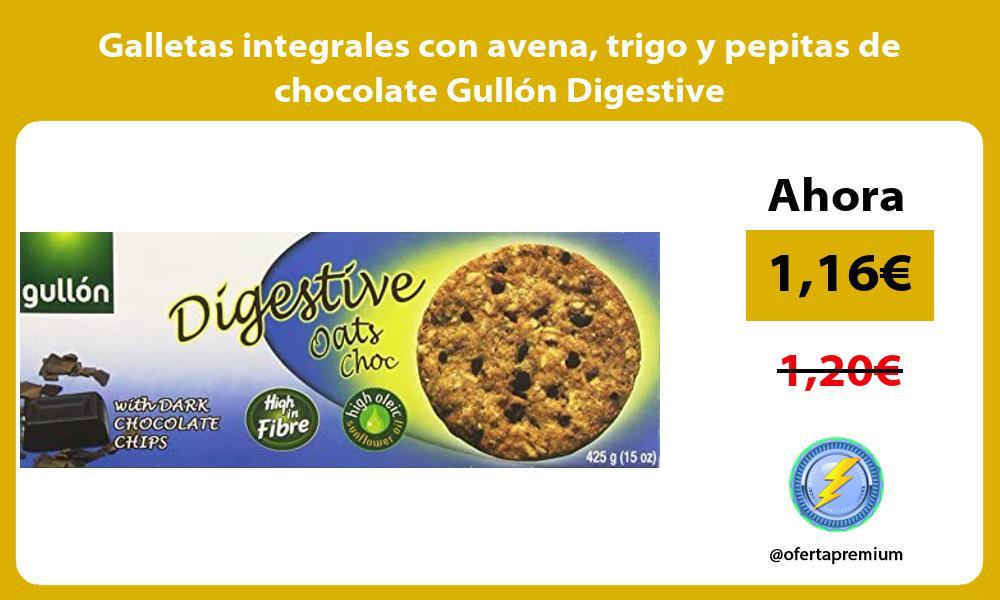 Galletas integrales con avena trigo y pepitas de chocolate Gullón Digestive