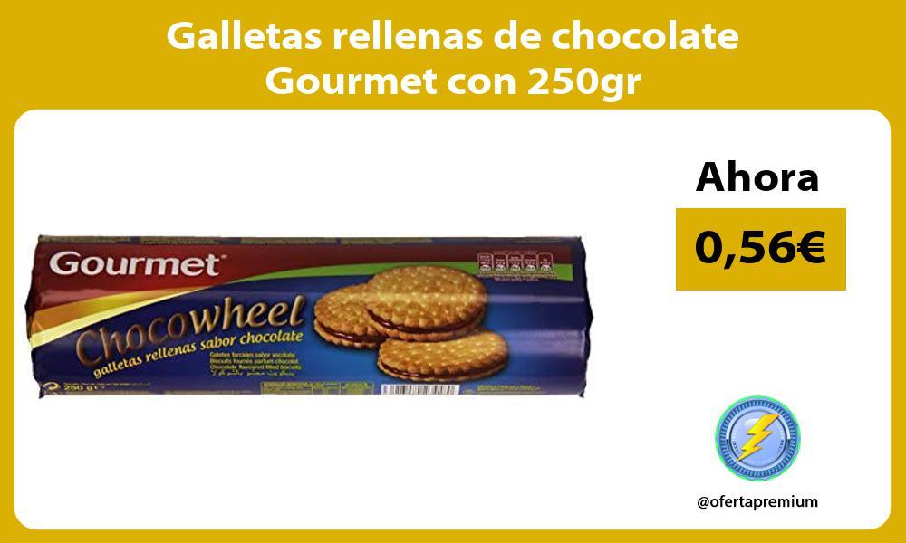 Galletas rellenas de chocolate Gourmet con 250gr