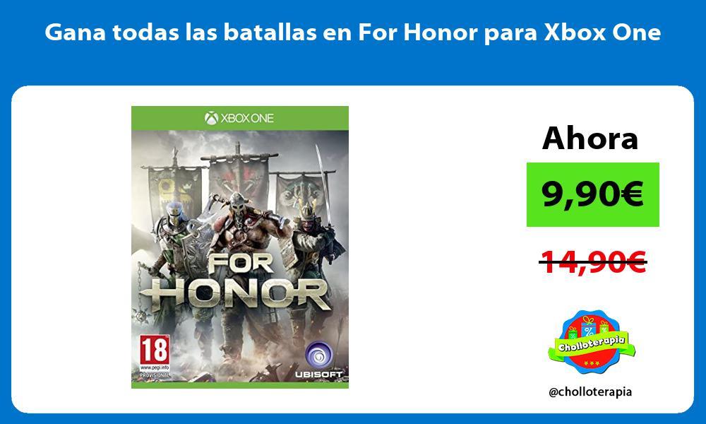 Gana todas las batallas en For Honor para Xbox One