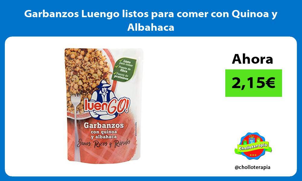 Garbanzos Luengo listos para comer con Quinoa y Albahaca