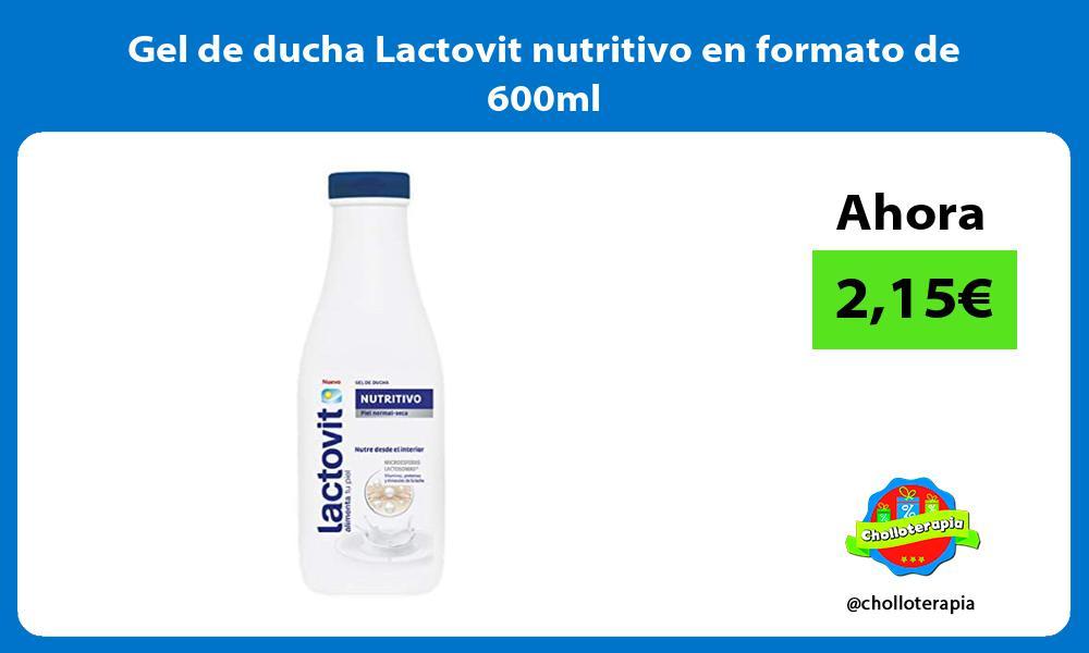 Gel de ducha Lactovit nutritivo en formato de 600ml