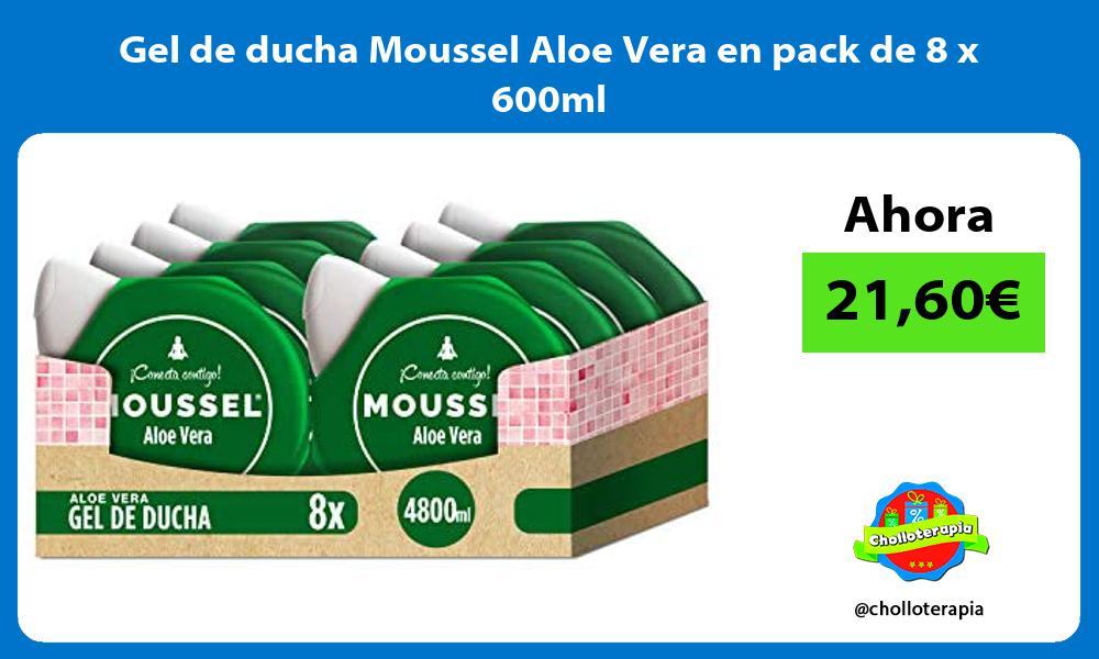 Gel de ducha Moussel Aloe Vera en pack de 8 x 600ml
