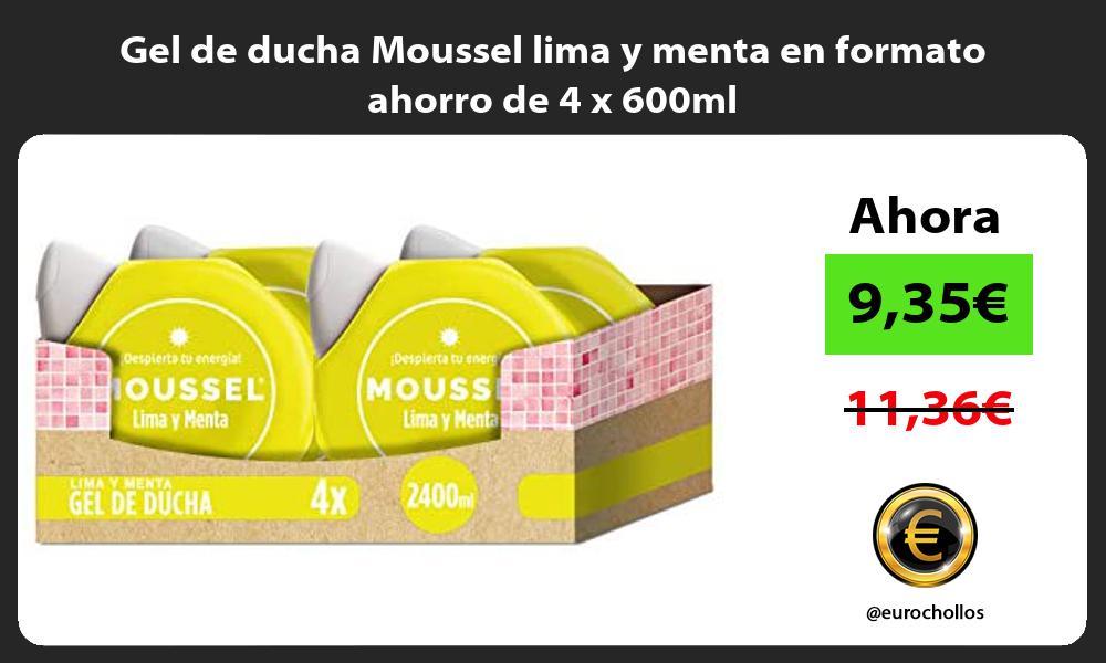 Gel de ducha Moussel lima y menta en formato ahorro de 4 x 600ml